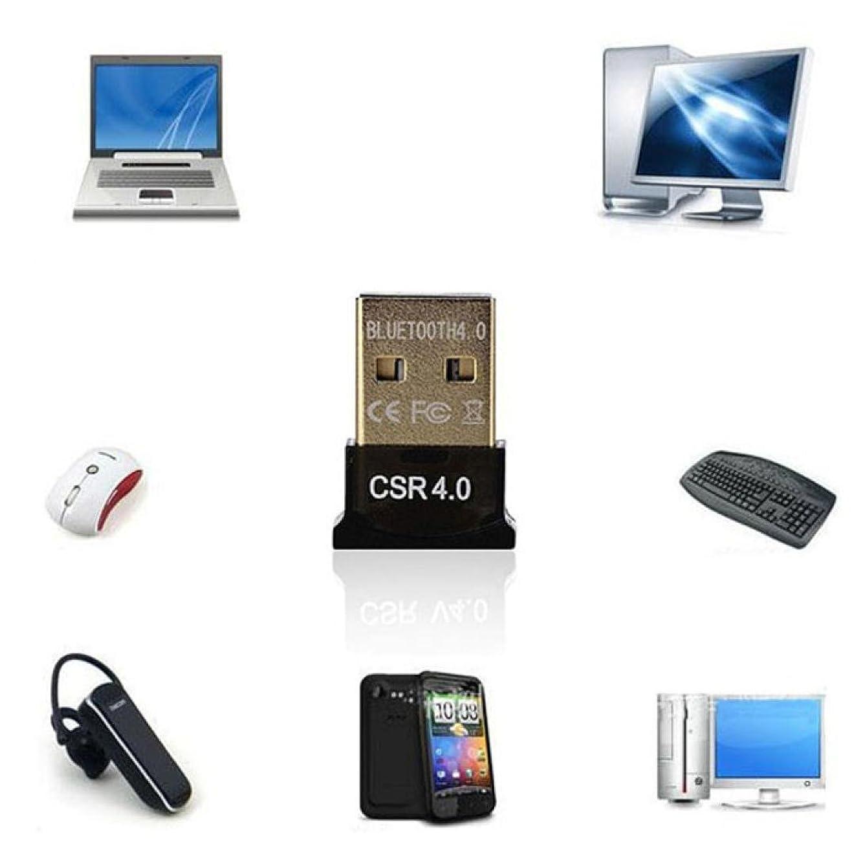 シャーアトム朝ごはんgbsellミニUSB Bluetooth v4?. 0ドングルデュアルモードワイヤレスアダプタfor Laptop PC