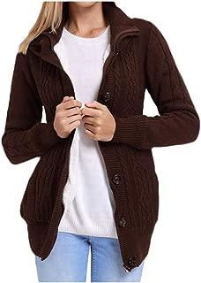 neveraway Women's Baggy Winter Knitted Shirt Plus Velvet Hooded Outwear Jacket