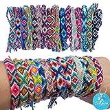Carykon 12 pulseras de amistad tejidas con un cierre de nudo deslizante para mujeres, adolescentes y niñas, el color puede variar