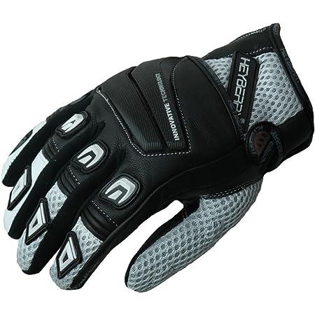 Heyberry Motorradhandschuhe Leder Motorrad Handschuhe Kurz Schwarz Weiß Gr L Auto