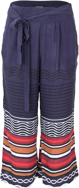Desigual Women's 18SWPW19blueE bluee Viscose Pants