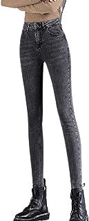 Dames Jeans met hoge taille Herfstmode Skinny Stretch Slim-fit Comfortabele bochtige cropped broek met zakken