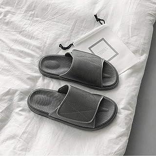 B/H Réglable Velcro Orthopédique Pantoufles,Chaussons diabétiques réglables, Chaussures de Pied déformées-Gris_41,Chaussur...