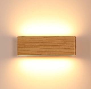 LED Lámparas de pared,Aplique de Pared industrial Vintage Interior Lámpara Pared Madera,Dormitorio, Cocina, Restaurante, Café, Pasillo(22CM)