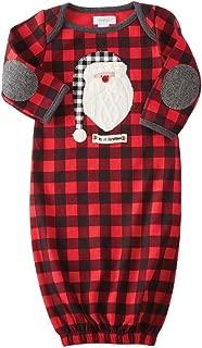 Mud Pie Mens Buffalo Check Santa Sleep Gown (Infant)