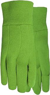 MidWest Gloves & Gear 537KGR-K-AZ-6 KIDS JERSEY GLOVES, green