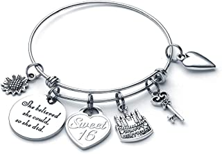 Birthday Gifts for Girls Women Her, Birthday Bracelets for Women Girls Expandable Charm Bracelets 10th 20th 30th 40th 50th 60th 70th 80th 90th Birthday Gifts for Granddaughter Niece Cousin Daughter