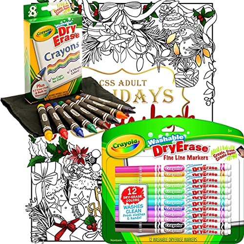 Crayola Washable Dry-Erase Markers & Dry-Erase Crayons with a CSS Coloring Book