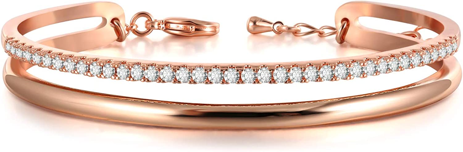 service Rose Safety and trust Gold Bracelet for Women Jewelry Cuff Mo Bangles 'Timeline'