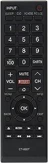 LuckyStar Replacement Remote Control Ct-8037 fit for Toshiba LCD LED Smart TV 40L3400 40L3400U 50L3400 50L3400U 58L5400 58L5400U 58L5400UC 65L5400 65L5400U 65L5400UC
