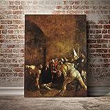 PLjVU Pintura Lienzo póster Pared Arte decoración Sala de Estar Dormitorio Estudio decoración del hogar impresión-Sin marco45X60 cm