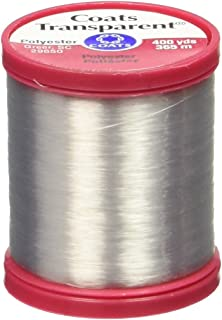 Coats: Thread & Zippers S995-9900 Transparent Polyester Thread, 400 Yard, Clear