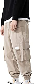 XYXIONGMAO Streetwear Harem Pants for Men Hip Hop Techwear Pants Loose Overalls Multi-Pocket Functional Casual Pants