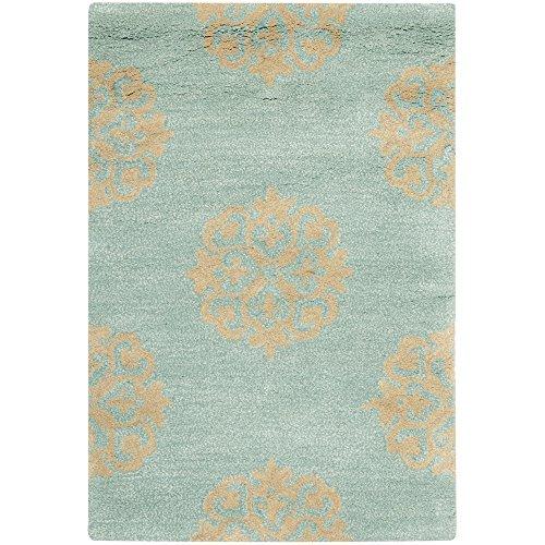 Safavieh Soho soh424C área alfombra, color plateado