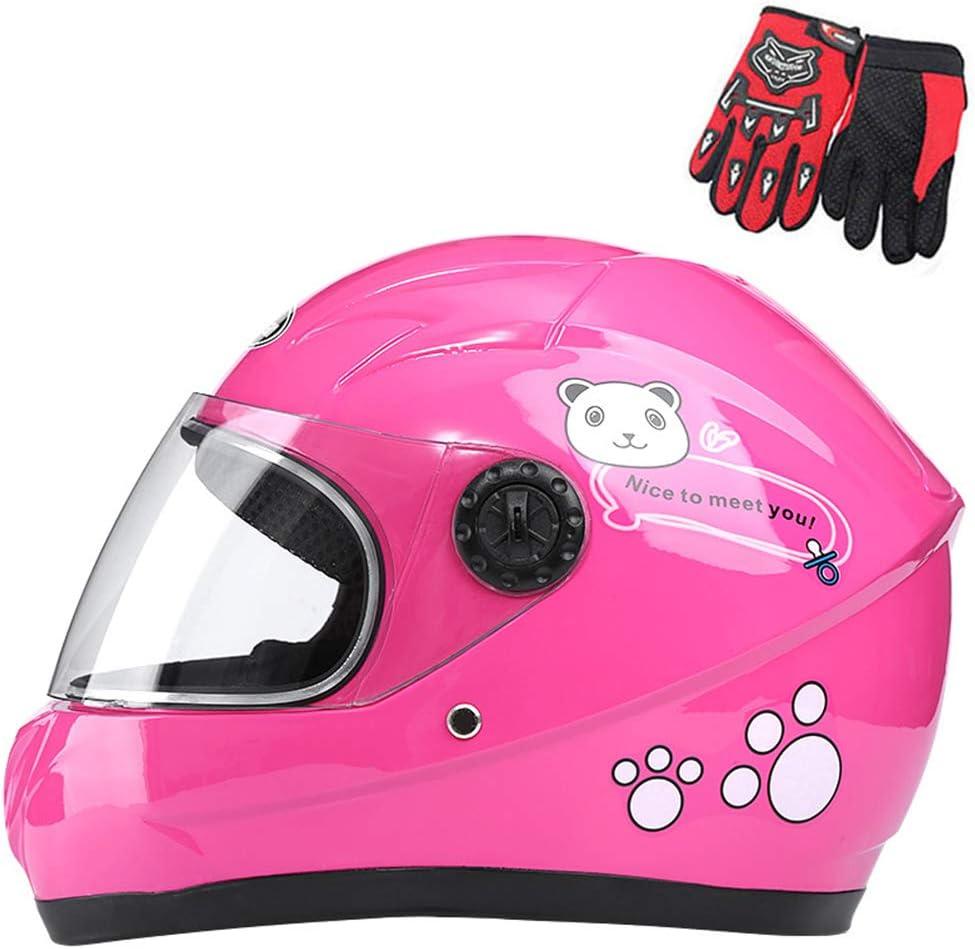 Zjra Boys Girls Kinder Motorrad Sturzhelm Für Kinder Fahrrad Full Face Fahrradhelm Moped Roller Sport Geeignet Für Unter 10 Jahre Alt 52cm Schwarz Küche Haushalt