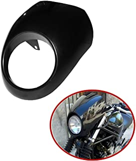 TCT-MT Headlight Fairing Front Cowl Cafe Racer Fit For Harley Sportster Dyna Glide FX
