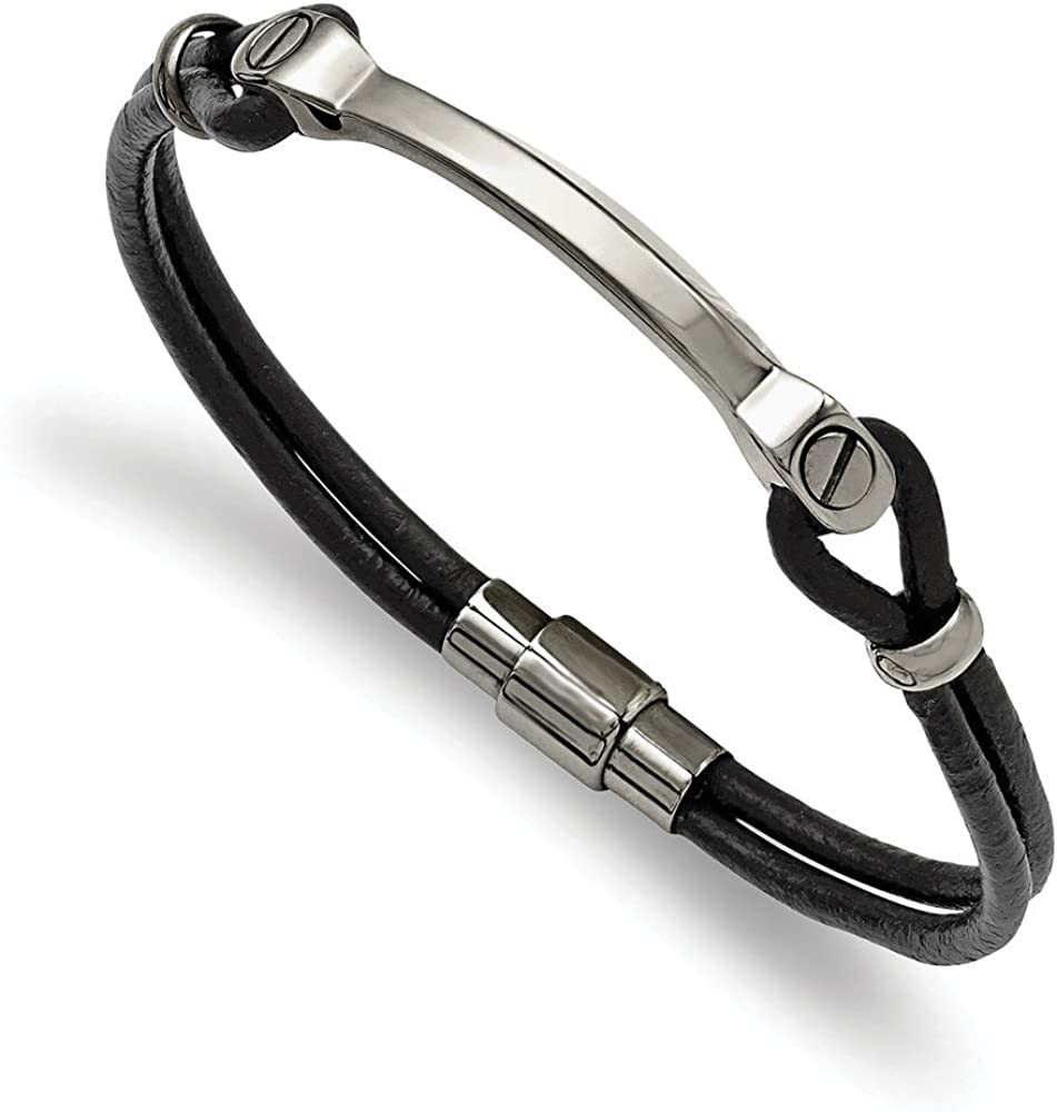 Large special price Solid Stainless Steel ID and Black Max 59% OFF 7.5