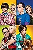 The Big Bang Theory Bloques Maxi póster, Madera, Multicolor