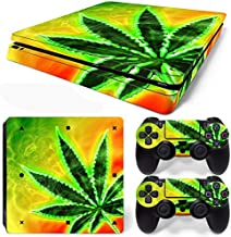 FriendlyTomato PS4 Slim Console and DualShock 4 Controller Skin Set - Weed 420 - PlayStation 4 Vinyl