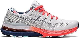 ASICS Women's Gel-Kayano 28 Running Shoes, 8.5, White/Thunder Blue
