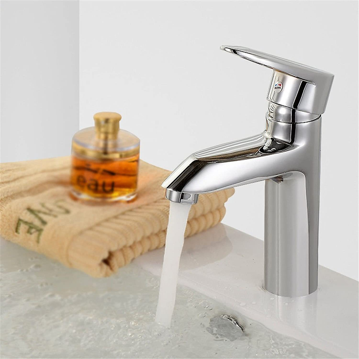 ETERNAL QUALITY Bathroom Sink Basin Tap Brass Mixer Tap Washroom Mixer Faucet Basin mixer SINGLE LEVER SINGLE HOLE full copper cold water faucet Washbasin Faucet with hig