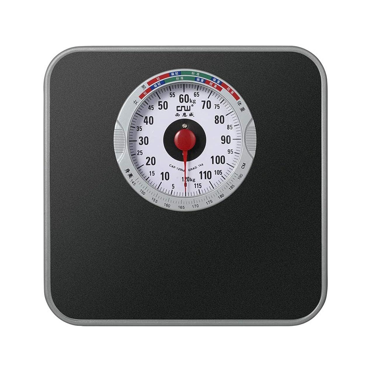 湿原魅惑的な掘る機械浴室スケール、正確な測定体重計、バッテリーなしでアナログダイヤル、滑り止めPVCベアリング120キロ