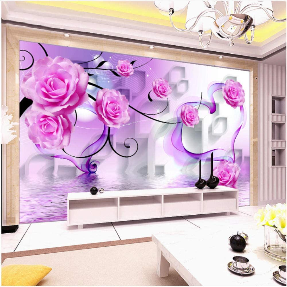 xbwy Modern Stereo Translated Fashion Relief Flowers Be Living Wallpaper Room Mural