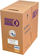 GRANDMAX CAT6 550MHz Shielded Stranded Bulk Cable, 1000ft, STP Pull Box, CMR Rated, 100% Pure Copper, Multiple Colors Available, 4 Pair, 24 AWG/ 1000FT/ Blue