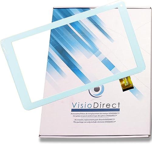 """Visiodirect® Vitre ecran Tactile pour Archos 101e Neon HXD-1072 10.1"""" Tablette Blanche"""