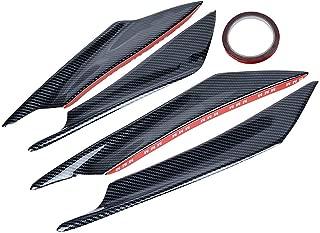 4PCS Universal (measure your car) Carbon Fiber Painted Car/Auto Front Bumper Lip Splitter Anti-Scratch Fins Canard
