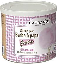 LAGRANGE Boîte de 500 g de sucre barbe à papa Fraise 380007