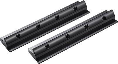 Enjoysolar ABS-houderspoiler zonnepaneel houder sepzial voor campers caraven boot (set van 2 houderspoiler 550mm zwart)