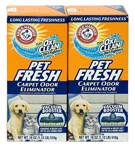 Arm & Hammer Pet Fresh Carpet Odor Eliminator Plus Oxi Clean Dirt Fighters, 18 oz,(PACK OF 2)