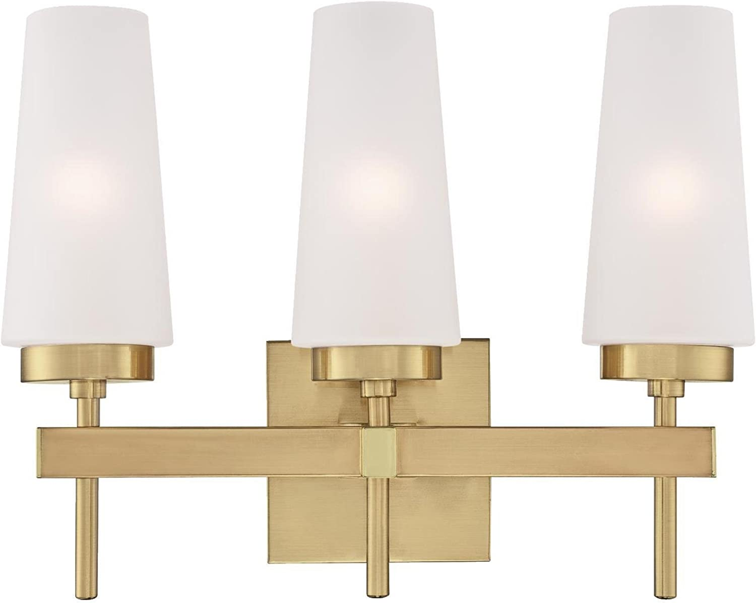 Westinghouse Lighting 6352800 Chaddsford Three-Light Indoor Wall Fixture, Champagne Brass