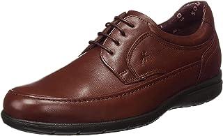 Fluchos | Zapato de Hombre | Luca 8498 Ave Castaño | Zapato de Piel | Cierre con Cordones | Piso de Goma