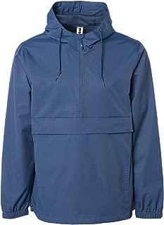 Men's Hooded Raincoat Waterproof Jacket Zip Up Windbreaker Anorak