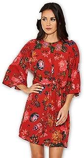 AX Paris Women's Floral Print Tie Front Shift Dress
