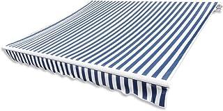 Festnight Festnight Store Banne En Toile Bleu Et Blanc 3 X 2,5 M (