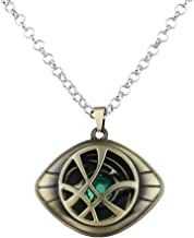 lureme Doctor Strange Necklace Eye of Agamotto Costume Prop Stone Pendant (nl005390)