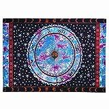 XXGI Indische Hippie Wandbehang Zodiac Blau & Lila Tapisserie Astrologie Tapisserie Dorm Divider Picknickdecke Strand Decke Tischdecke -