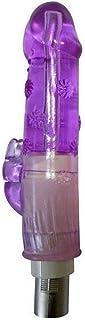 LLFXozcr Máquina de Sexo de Empuje Accesorios Dillo para Mujer Masturbación Juguete Masajeador de Conejos TPE Suave Bra (Color : Purple)