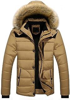 Targogo Giacca Invernale da Uomo Spesso Caldo più Cappotto con Abbigliamento Cappuccio Vintage in Pelliccia Piumino Manica...