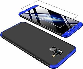 ae668979ad9 AILZH Funda movil Compatibles para Samsung Galaxy J6 2018 Carcasa+[Cristal  Templado] 360 Grados