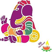 Incredible Gifts India Ganesh ji Stencils for Diwali (Wood, 30x30 cm)