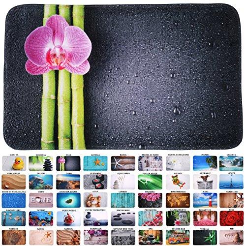 Tappetino per Il Bagno, Grande Scelta di Belli tappetini per Il Bagno, di Alta qualità, Molto morbide, a seccaggio rapido, Lavabile (Asia, 70 x 110 cm)