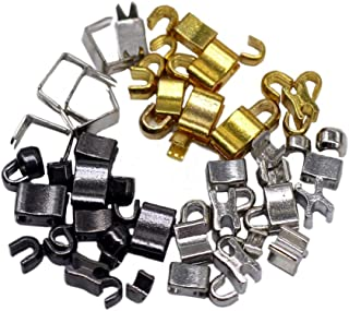 Meillia 55 Pieces #3 and #5 Zipper Bottom Stops and Top Stops Zipper Stops in Gold, Silver and Gunmetal