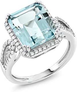 Best sterling silver ring with aquamarine stone Reviews