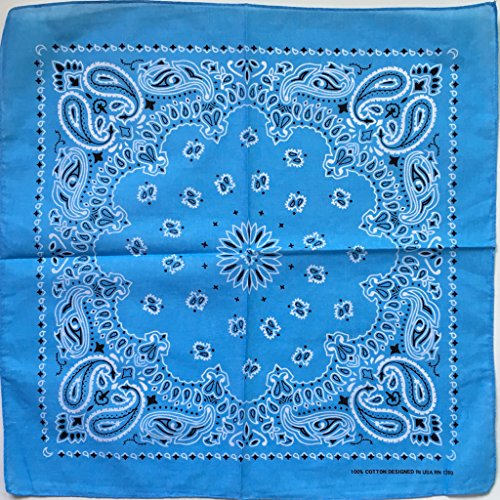 Lyguy Paisley Bandana, Bandana Paisley gedrukte zakdoek masker sjaal Biker gezicht hoofd wrap sjaal