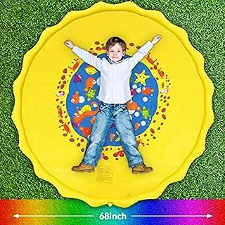 66'' 3-in-1 Kids' Sprinkler Pad for Kids Summer Fun Sport Outdoor Water Toy Lawn Inflatable Pool Toys Splash Play Mats Poo...