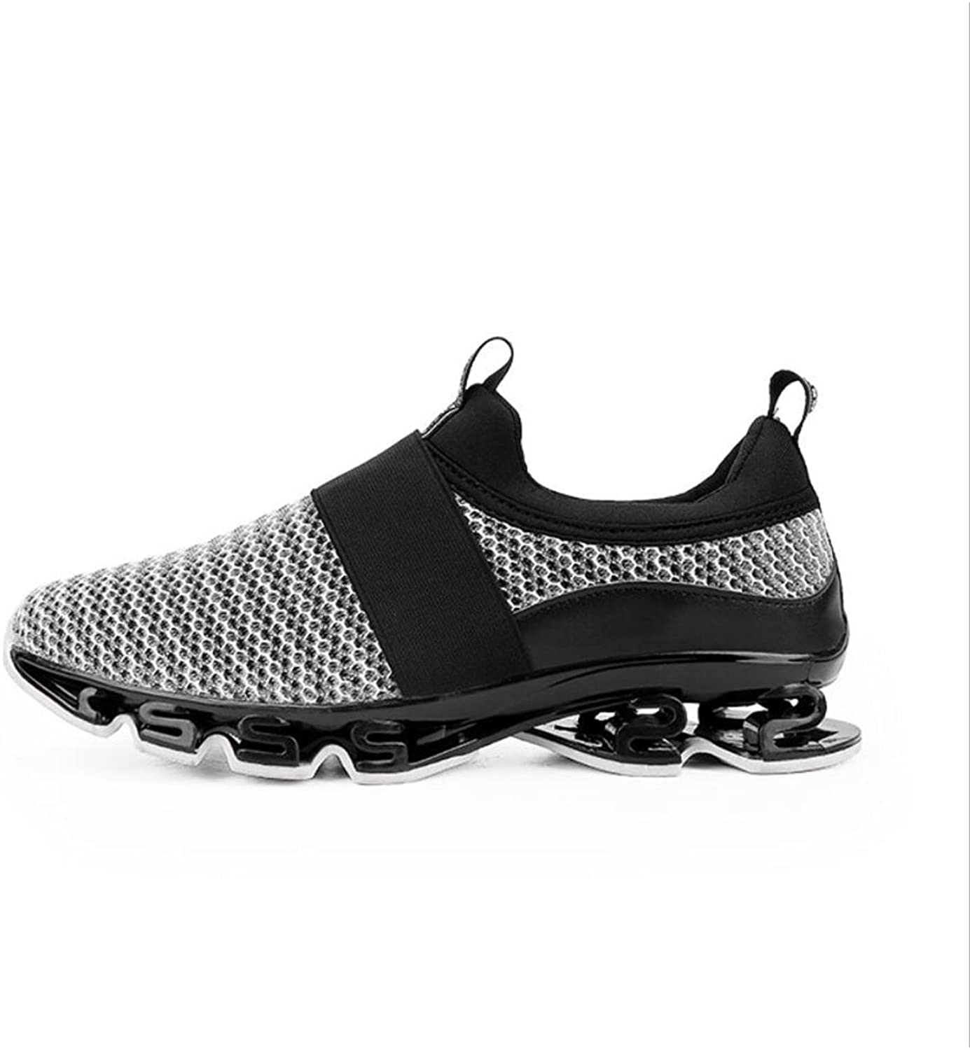 XUE Men's shoes Knit Athletic shoes ,Low-Top Sneakers, Comfort Walking shoes ,Lightweight Running shoes, Light Soles Tennis shoes ,Breathable EVA (color   B, Size   40)